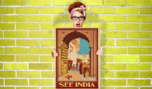 See India - Decorative Arts, Prints & Posters,Wall Art Print, Poster , Vintage Travel Poster